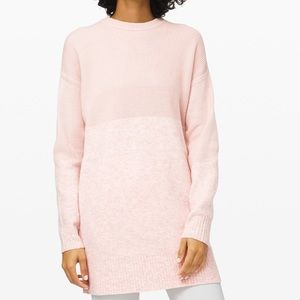 NWT Restful Intention Sweater, Size Sm Pink
